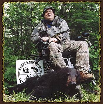Disabled hunts, Disabled bear hunting guides, bear hunting in Canada with Claude Turcotte Big Bear Hunts