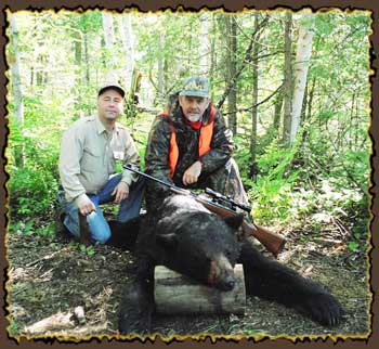 Bear hunts, Quebec bear hunting guides, bear hunting in Canada with Claude Turcotte Big Bear Hunts